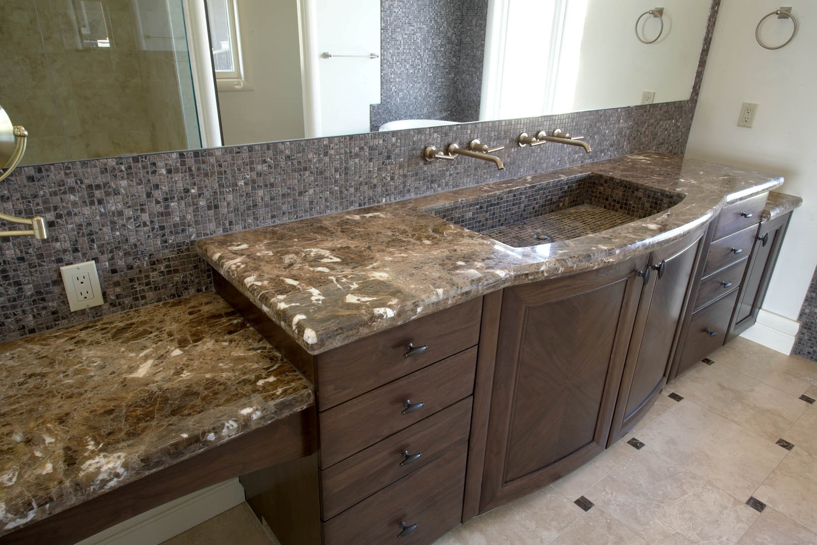 Calgary Bathroom Counters by Silkstone and Granite